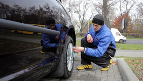 Car wash wheel stock video
