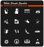 Car washer icon set. Car washer icons for user interface design royalty free illustration