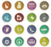 Car washer icon set. Car washer vector icons for user interface design vector illustration