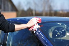 Car washing Royalty Free Stock Photo