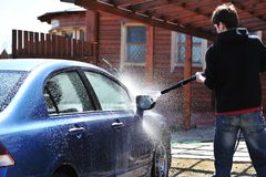 Car washing Stock Photos