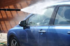 Car washing Royalty Free Stock Photos