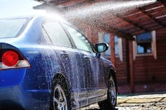 Car washing royalty free stock image