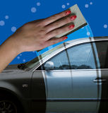 Car washing Royalty Free Stock Images