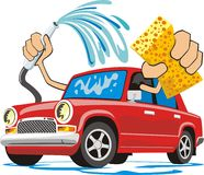 Car washing Stock Image