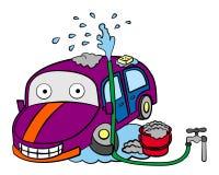 Car washing royalty free illustration