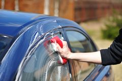 Car washing Stock Photography