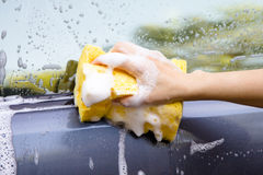 Car washing Stock Image