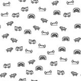 Car Washing And Service Seamless Pattern Vector royalty free illustration