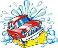 Car washing sign vector illustration