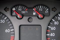 Car water and fuel indicator Stock Photos