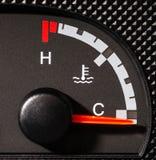 Car water gauge empty Stock Photography