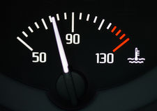 Car water temperature gauge. Close up Royalty Free Stock Photo