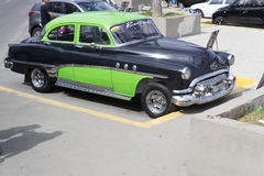 Car By The Waterfront in Havana, Cuba Royalty Free Stock Photography