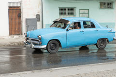Car By The Waterfront in Havana, Cuba Stock Photography