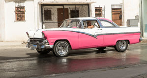 Car By The Waterfront in Havana, Cuba Stock Photos