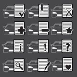 Car Web icons Royalty Free Stock Photography