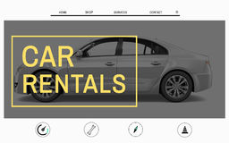 Car Website Homepage Layout Advertising Concept Stock Images