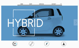 Car Website Homepage Layout Advertising Concept Royalty Free Stock Photo