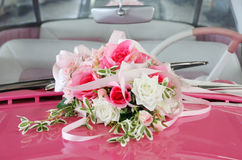 Car wedding decoration Stock Images