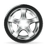 Car Wheel. Computer illustration on the white royalty free illustration