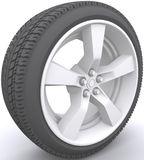 Car wheel. Wheel over the white background Stock Images
