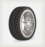 Car wheel. Car wheel perspective. Vector illustration stock illustration