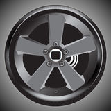 Car wheel. A modern style of car wheel Stock Images