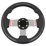 Car wheel. Black car wheel on a white background Royalty Free Stock Images