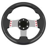Car wheel. Black car wheel on a white background royalty free illustration