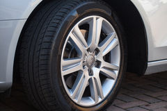 Car Wheel on Car Stock Image