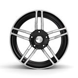 Car wheel, Car alloy rim on white background. Royalty Free Stock Photo