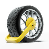 Car wheel clamp Royalty Free Stock Photo