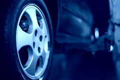 Car wheel closeup stock photos