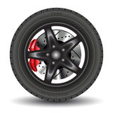Car wheel Royalty Free Stock Images