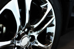 Car wheel detail Stock Image