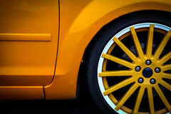 Car wheel detail Stock Photo