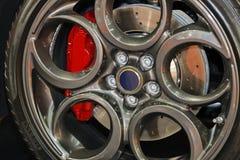 Car wheel detail Stock Images