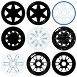Car Wheel Disc Rims Isolated Illustration On White Vector Royalty Free Stock Images
