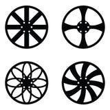 Car wheel icon set. The car wheel of icon set vector illustration