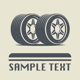 Car wheel icon. Or sign, abstract illustration Royalty Free Stock Image