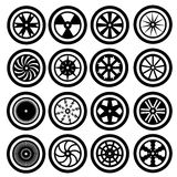 Car Wheel Icons Stock Photos