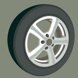 Car wheel. Royalty Free Stock Photography