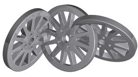 Car wheel,  illustrations in motion, isolated on white background. stock video footage