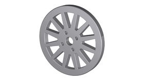Car wheel,  illustrations in motion, isolated on white background. stock video