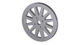 Car wheel,  illustrations in motion stock video