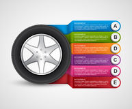 Car Wheel Infographic Design Template. Vector illustration Royalty Free Illustration