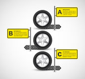 Car Wheel Infographic Design Template. Vector illustration Stock Illustration