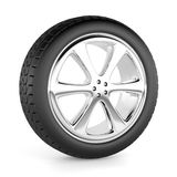 Car wheel isolated. On white Stock Images