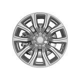 Car wheel isolated on white background. Royalty Free Stock Photos